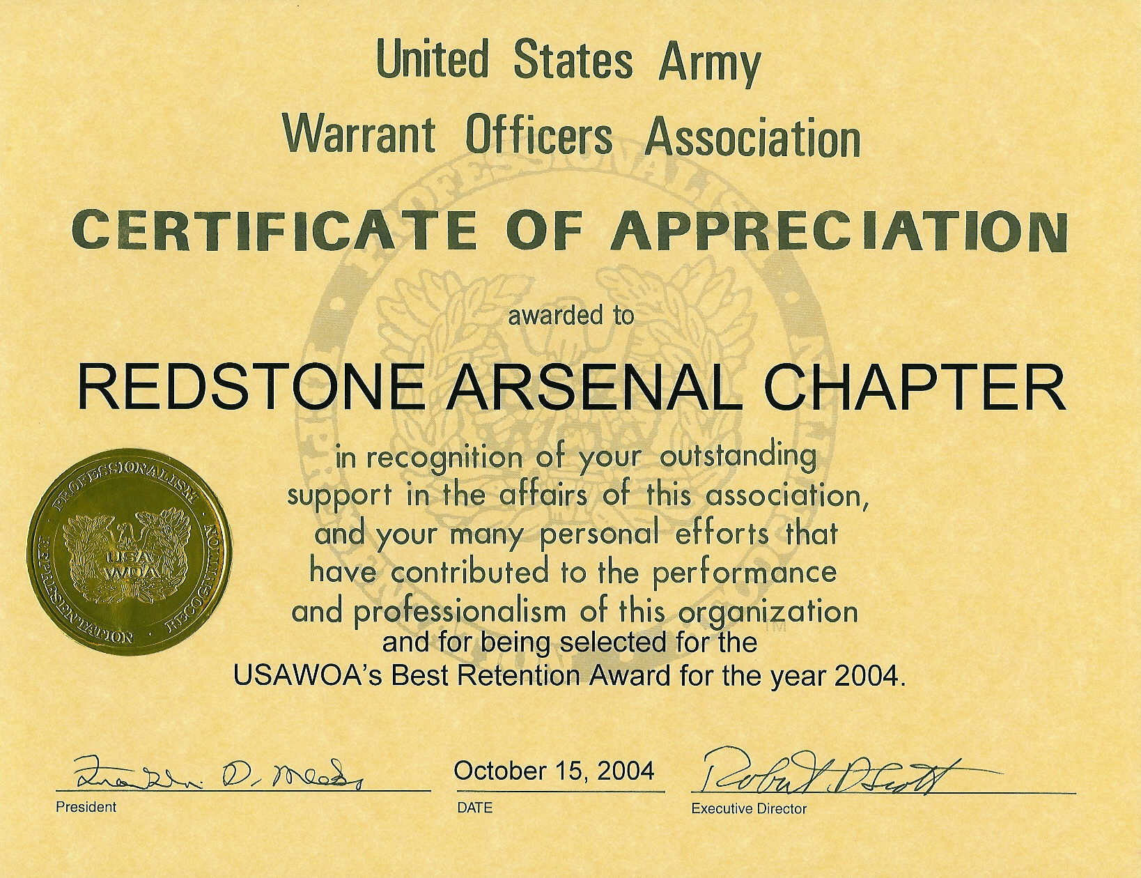 05-10152004 - Best Retention Award-2004